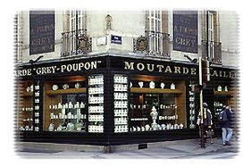 Le magasin de moutarde Grey-Poupon (Maille), fondé en 1777.